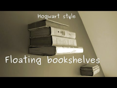 How to make levitating (invisible)  bookshelf (on the wall) - easy DIY project