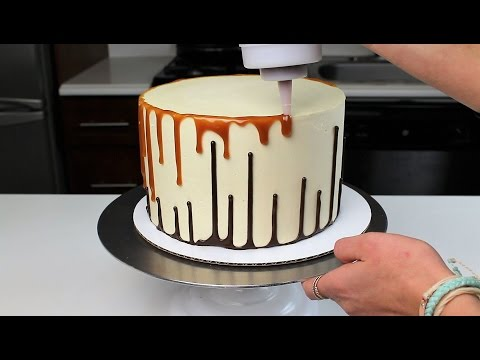 Upside down Double Drip Cake | CHELSWEETS