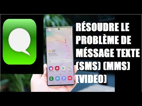Solution pour les problèmes des messages textes