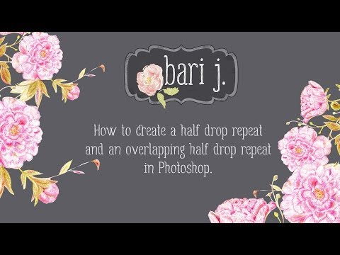 How to Make an Overlapping Half Drop Repeat Pattern