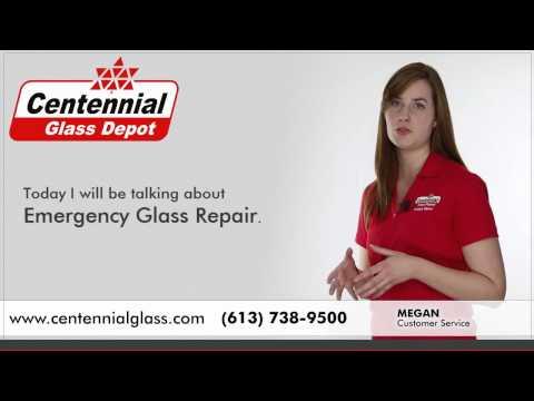 Emergency Glass Repair - Broken, Cracked Glass and Windows - Centennial Glass Ottawa