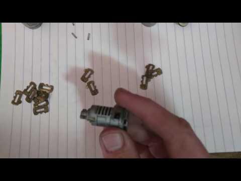 How to rekey an S10 door lock cylinder