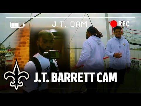 J.T. Barrett Cam   New Orleans Saints Rookie Tour