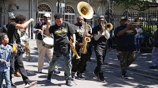 New Orleans brass band plays Superstar Theme Songs