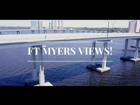 FORT MYERS FLORIDA VIEWS! - DOWNTOWN - OCEAN VIEW BRIDGE (DRONE)