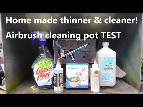 home made airbrush thinner & cleaner airbrush station unboxing test