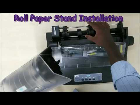 TVS ELECTRONICS DMP Roll paper stand installation