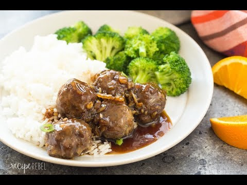 Meatballs in Orange Sauce Recipe with Video
