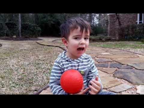 Sawyer sings his ABCs.