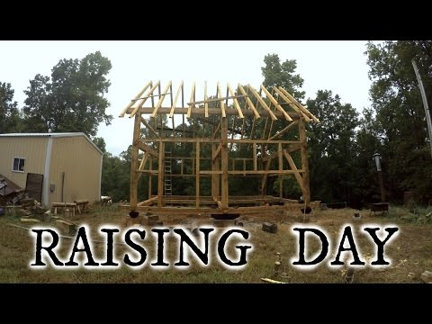 Our timber frame cabin part XII: RAISING DAY