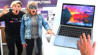 Buying EVERYTHING I Touch Blindfolded - Challenge