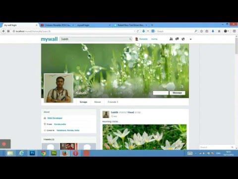 MYWALL  Social Networking script Using PHP MySql