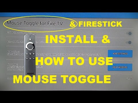 Install mouse toggle on firestick and how to use mouse toggle for fire TV