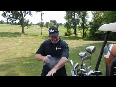 Oak Tree Golf Course ... Darin with a little SPF 50 Spray-age