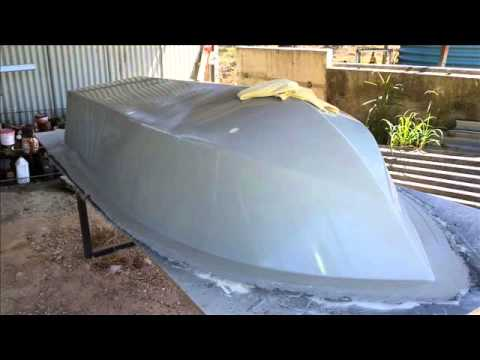 Fibreglass Boat Building from Mold