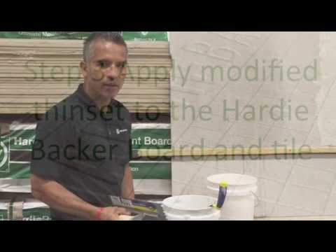 How to install tiles with the Hardie Backer board
