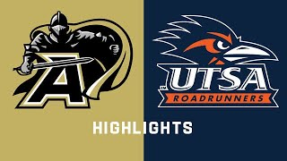 Army Black Knights vs. UTSA Roadrunners Highlights!