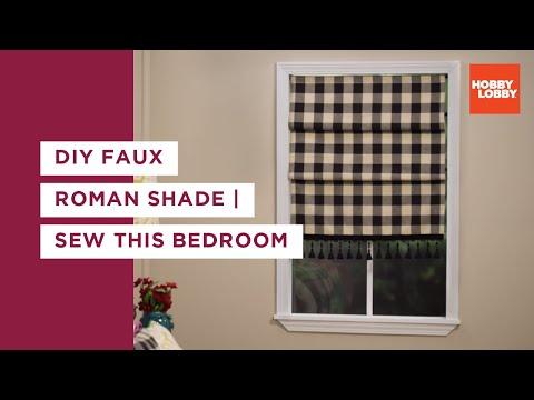 Sew This Bedroom: Roman Shade