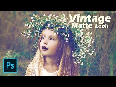 Vintage Matte Look - Photoshop CC Tutorial