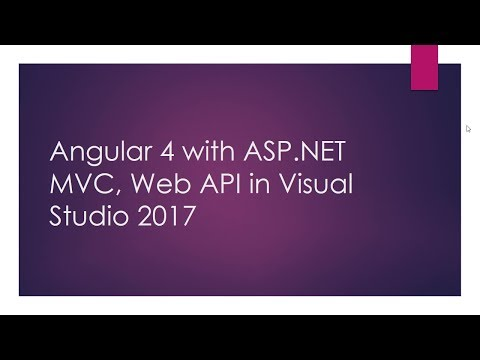 Angular 4 with ASP.NET MVC, Web API in Visual Studio 2017