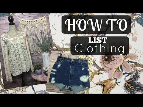 How to List Clothing Fast on eBay