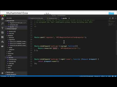 22   Laravel API with Passport and CRUD