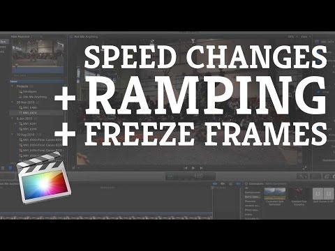 Final Cut Pro X: Speed Adjustments & Freeze Frames