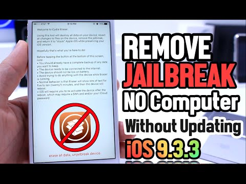 How to Remove Jailbreak No Computer & Without Updating iOS 9.3.3