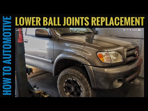 How to Replace the Lower Ball Joints on a 2000-2006 4x4 Toyota Tundra