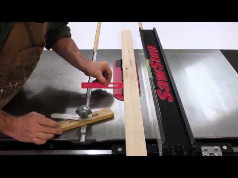 Ripping Narrow Stock With Your SawStop Table Saw