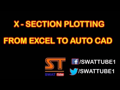 Cross Section Plotting From Excel To Autocad Method No 5 Hindi/Urdu