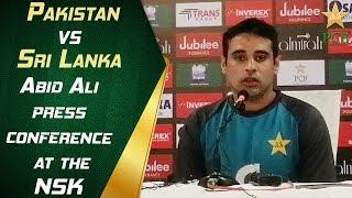 Abid Ali Press Conference At The NSK | Pakistan vs Sri Lanka 2019 | 3rd ODI | PCB