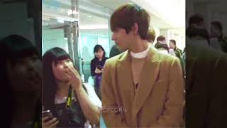 Strangers & Fans Reaction to Kpop Idols In Real Life ( BTS V, GOT7, Wanna One, Taeyeon, Irene. NCT.)