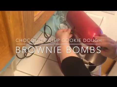 Chocolate Chip Cookie Dough Brownie Bombs Recipe