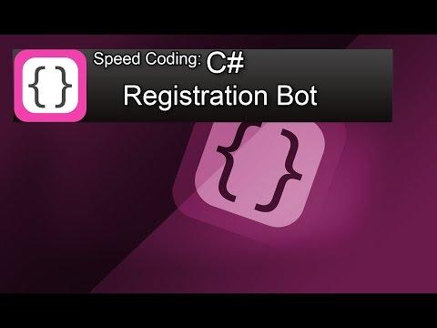 Speed Coding (speed art) Registration Bot (Yandex.ru) in C# Visual Studio 2013 Express