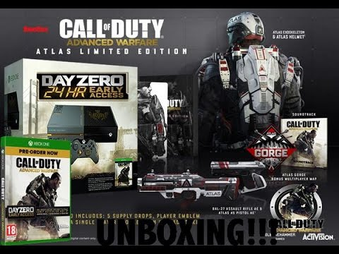 Unboxing: Call of Duty Advanced Warfare Xbox One bundle and Atlas Limited Edition
