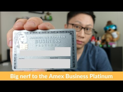 Big Downgrade to the American Express Business Platinum Card