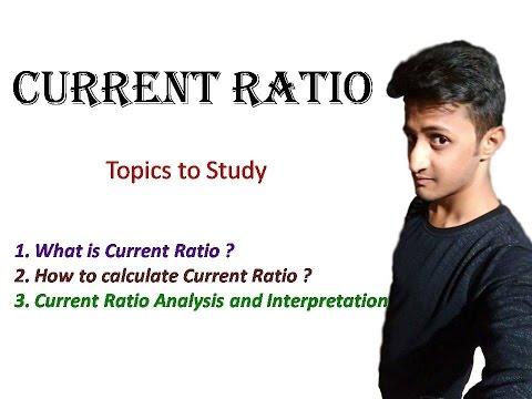 Current Ratio - Meaning/Formula/Analysis/Interpretation