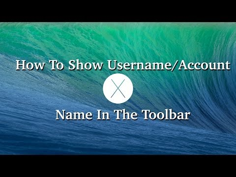 How To Show Username/Account Name On Mac OS x All Versions (M, ML ,L ,SL)