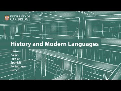 History and Modern Languages at Cambridge