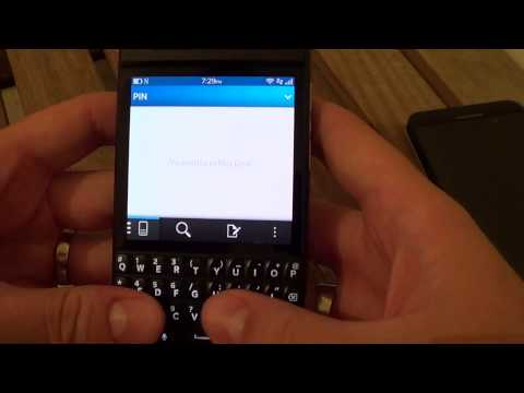 PIN to PIN Messaging in BlackBerry OS 10.1