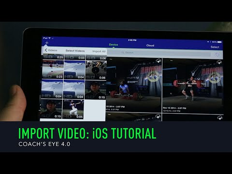 Coach's Eye Tutorial: Importing Video From Photos App On iPad / iPhone