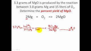 Stoichiometry Solving Percent Yield Stoichiometry Problems