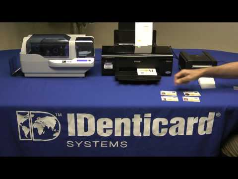 Compare ID card printing between PVC cards and laminated Teslin cards
