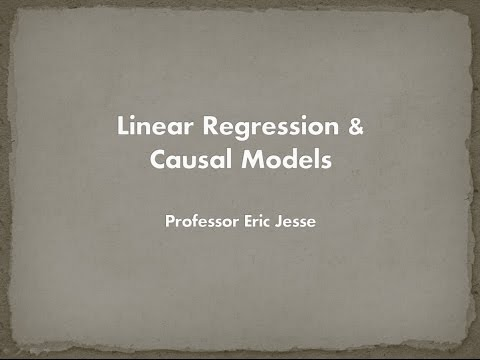 Linear Regression & Causal Models (in Excel)