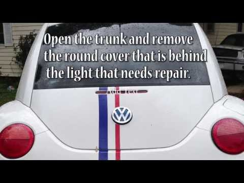 How to Replace Tail Light Bulb New VW Beetle