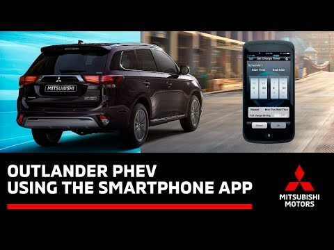 How to use the Outlander PHEV Smartphone App to remotely schedule electric vehicle charging