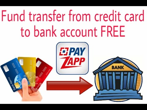 Fund transfer from credit card to bank account
