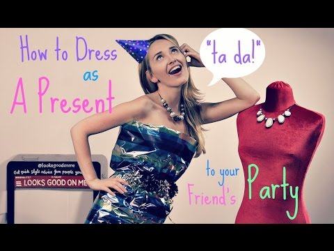Girl vs. Dress: DIY Wrapping Paper Party Outfit | Looks Good On Me