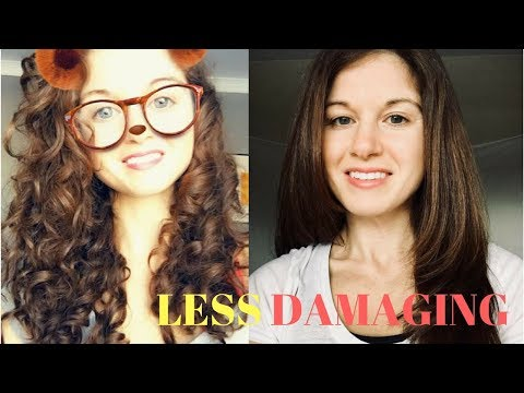 how to straighten curly/wavy hair | Less Damaging!